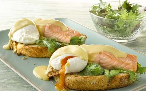 Eggs Benedict with Fresh Salmon