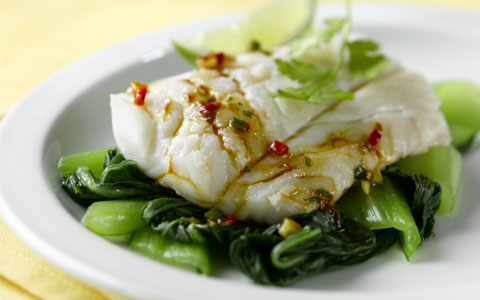 Aromatic Steamed Haddock