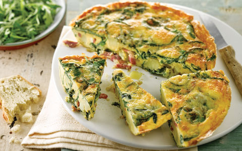 Bacon, Spinach and Potato Frittata