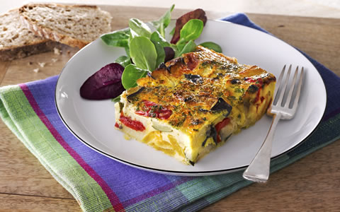 Baked Frittata with Roasted Vegetables