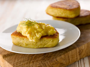 Eggs on Potato Cakes