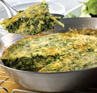 Green Omelette with Spinach Salad