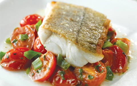 Haddock with Warm Tomato Relish