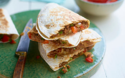 Lamb and Cheddar Quesadillas