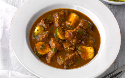 Lamb Casserole with Cinnamon and Courgettes