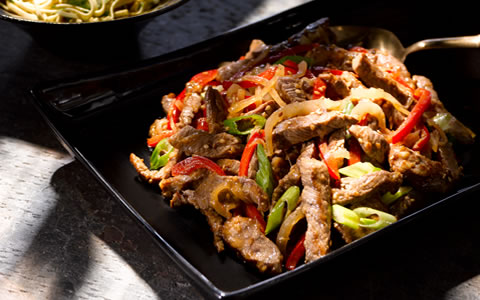 Lamb Stir-fry with Leeks and Peppers