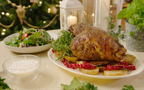 Nevens Fragrant Slow Roast Leg of Lamb