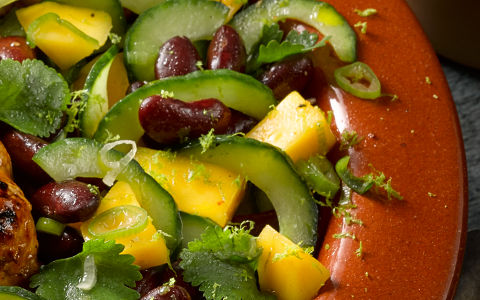 Mango, Cucumber and Kidney Bean Salad