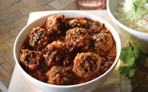 Meatballs in Tomato and Ginger Sauce