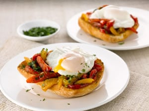 Mediterranean Eggs on Toast
