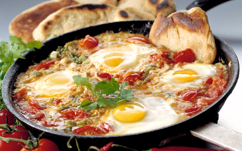 Mexican Eggs in the Pan