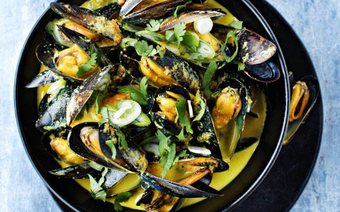 Mussels with Lemon Grass, Chilli and Ginger
