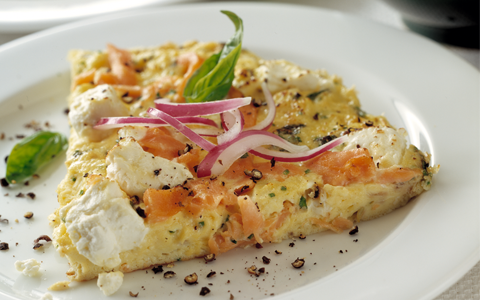 Organic Smoked Salmon and Cheese Frittata