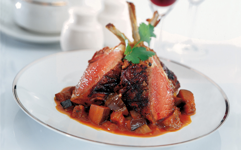 Rack of Lamb with Spiced Aubergines