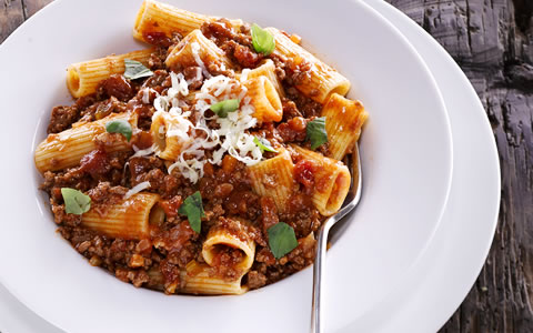 Rigatoni with Beef