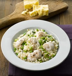 Risotto with Hake and Basil