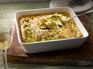 Simple Souffle with Courgettes and Herbs