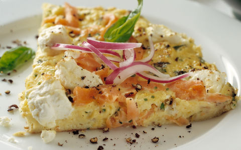 Smoked Salmon and Cream Cheese Fritatta