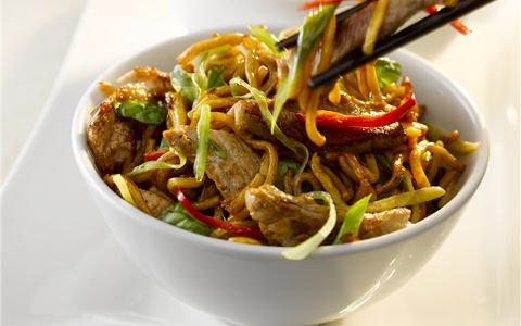 Stir-fried Pork and Ginger Noodles