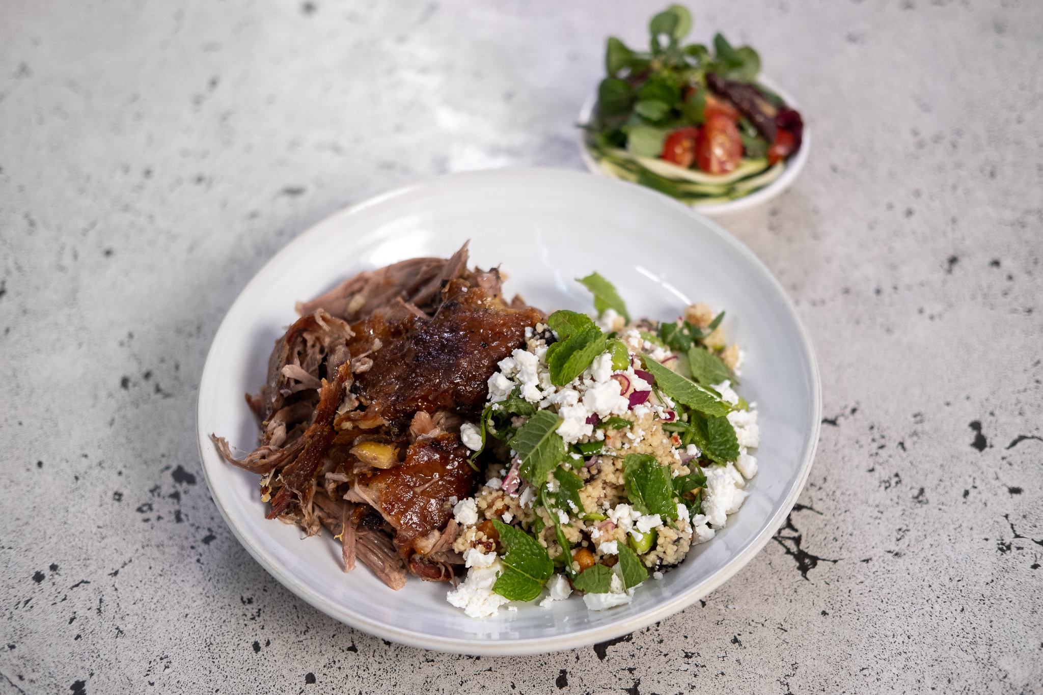 Mark's Slow Roast Lamb Shoulder, Dressed Couscous and Broad Bean Salad