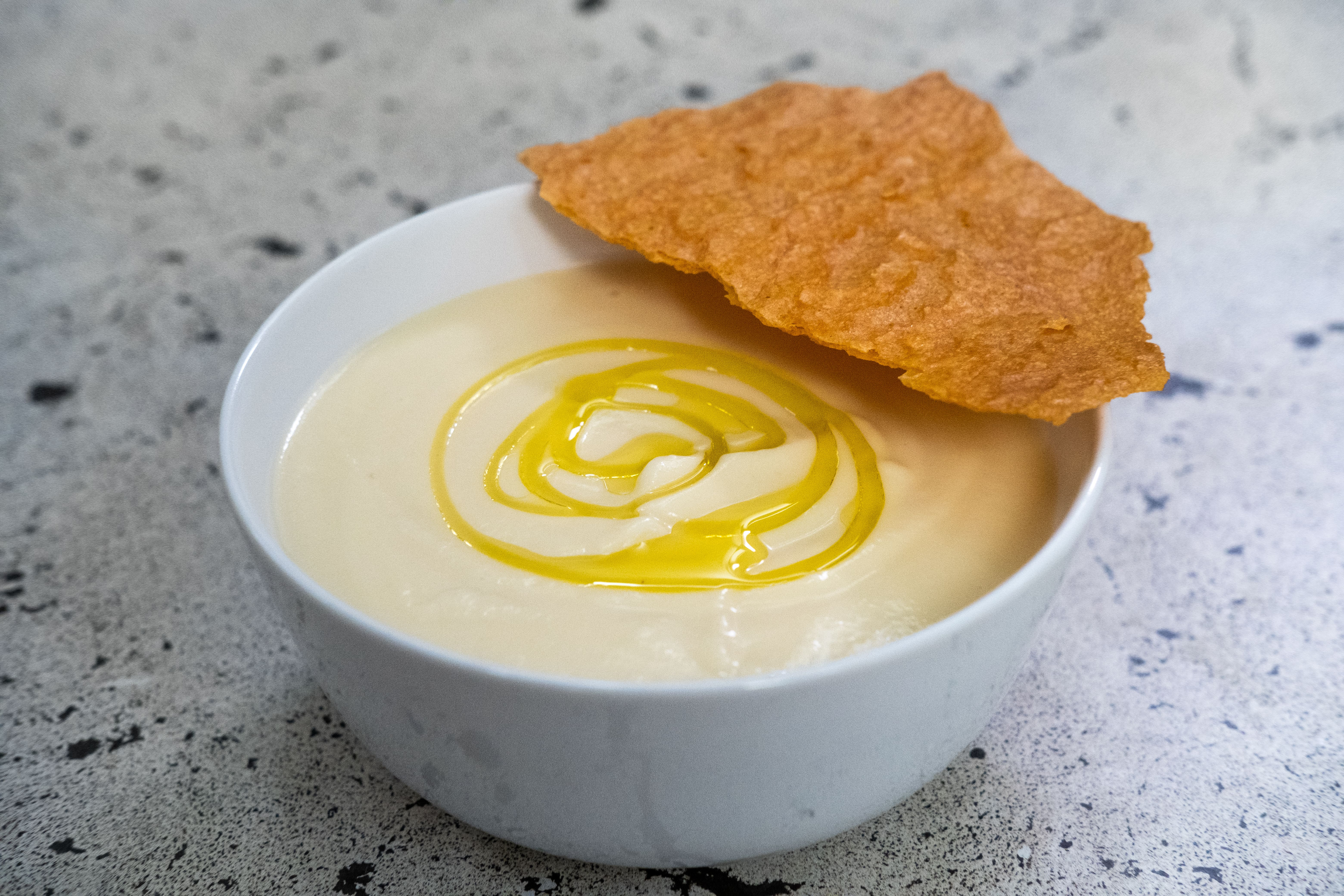 Mark's Cauliflower Soup with Cheesy Crisps